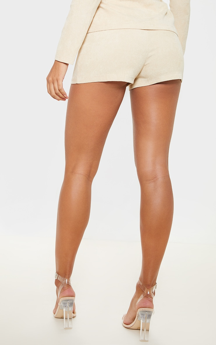 Stone Cord High Waisted Shorts 4