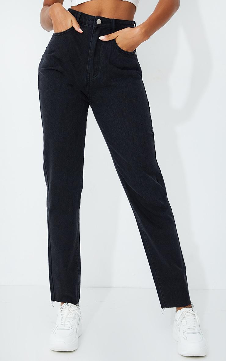 PRETTYLITTLETHING Straight Leg Washed Black Jean 2