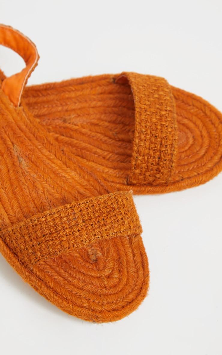 Orange Espadrille Lace Up Sandal  4