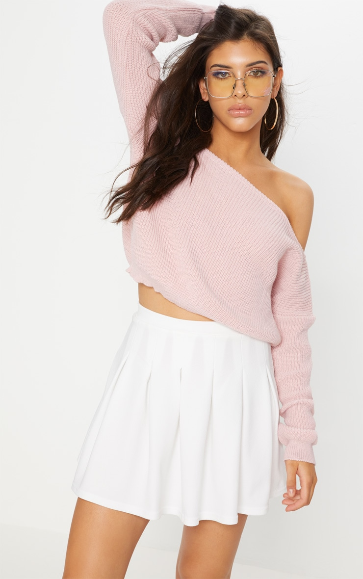 White Pleated Tennis Skirt 1
