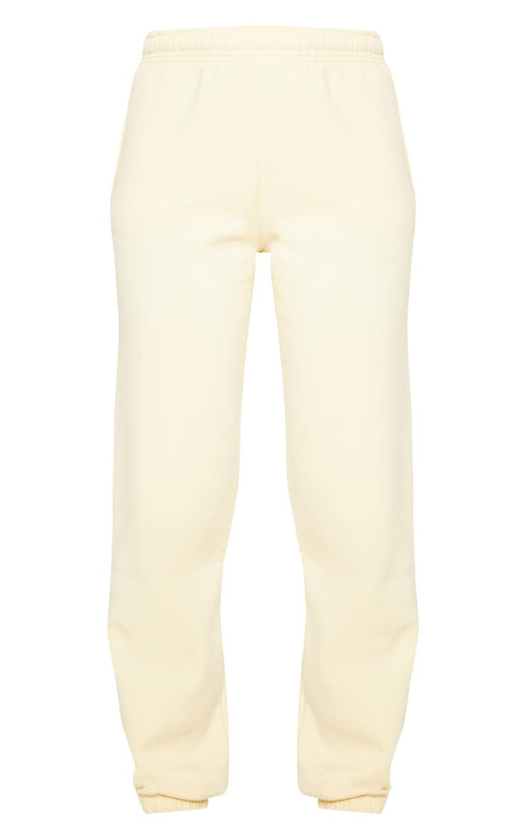 Pale Yellow Casual Joggers 3