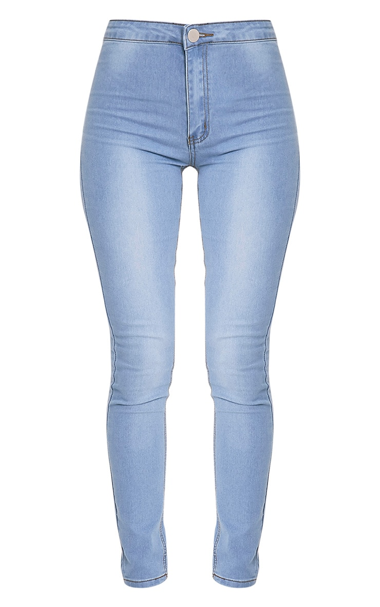 Light Wash High Waisted Skinny Jean 4