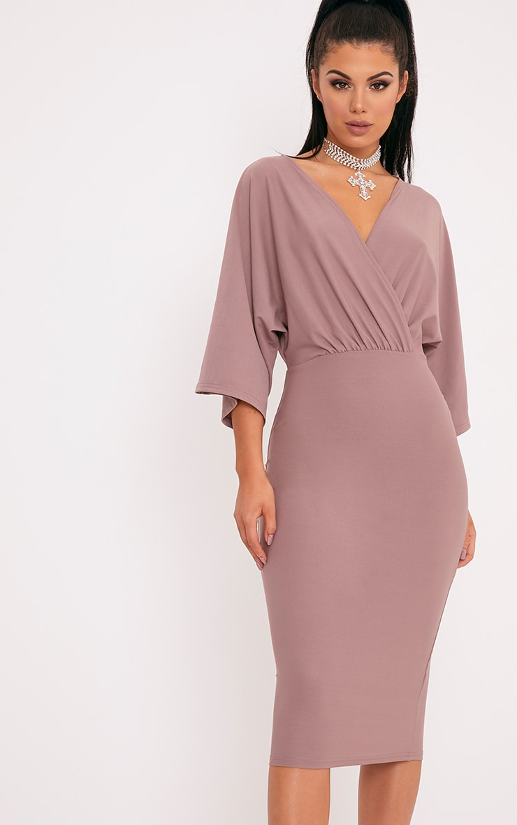 Renee Truffle Cape Midi Dress