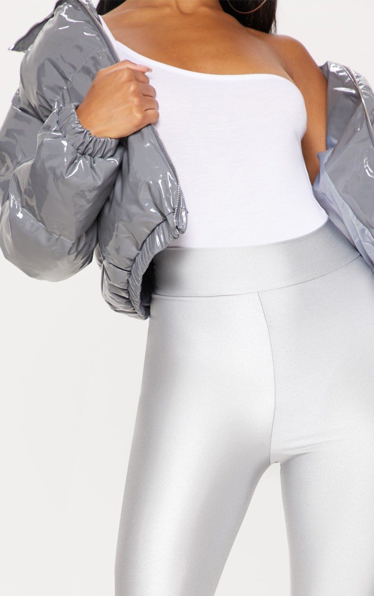Silver Disco Highwaisted Leggings 5