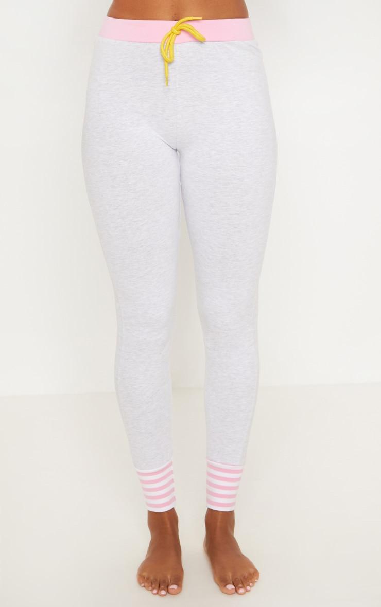 White Little Miss Sunshine Good Vibes Legging PJ Set  6