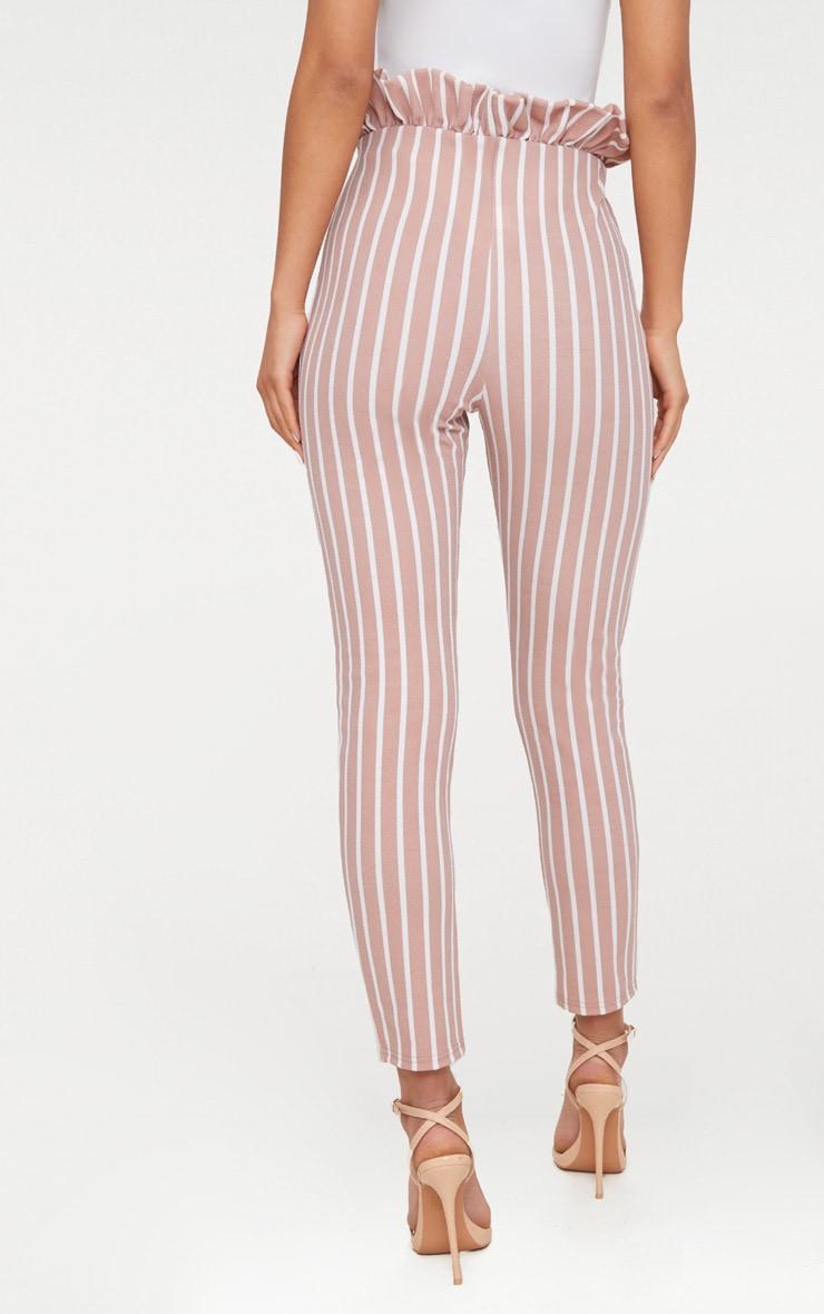 Blush Pinstripe Paperbag Skinny Trousers 4
