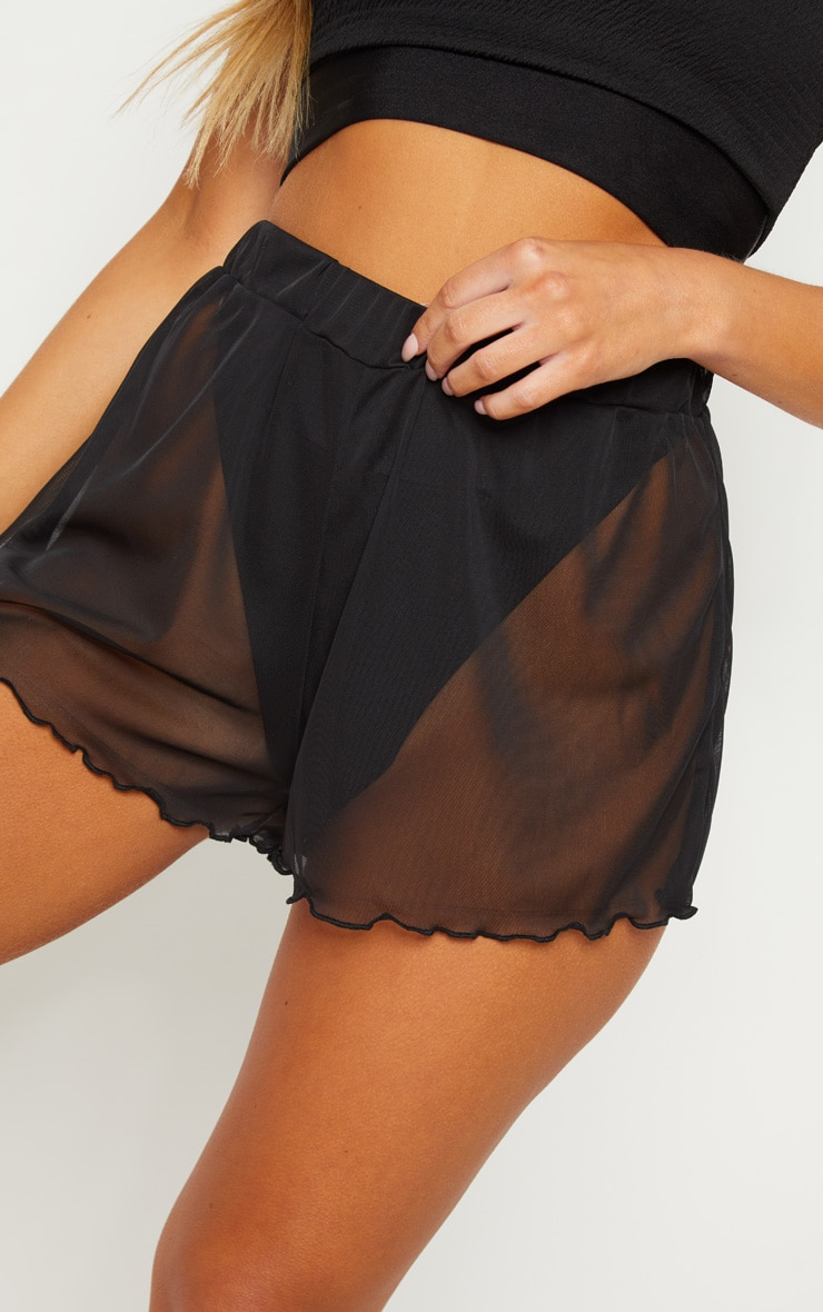 Black Mesh Beach Short 6