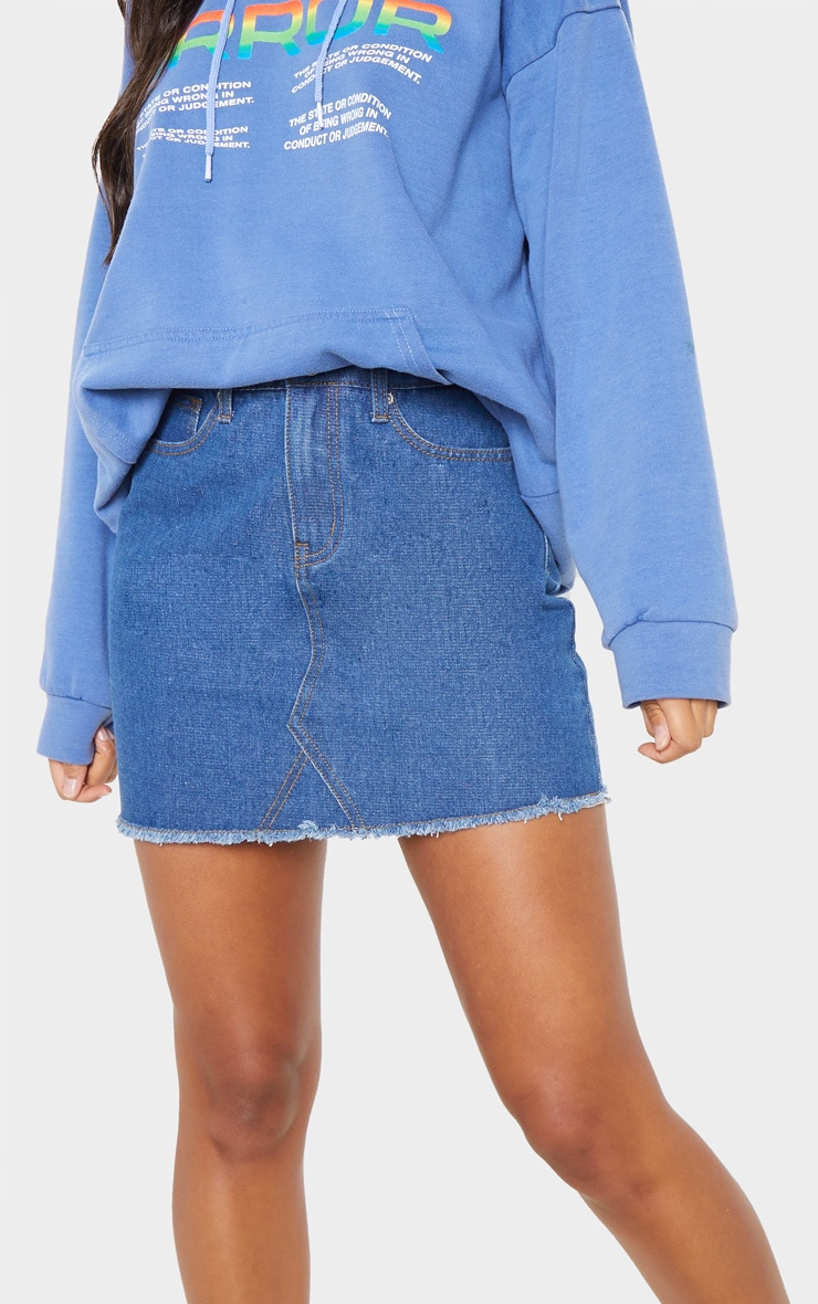 Basic Mid Wash Denim Skirt 6