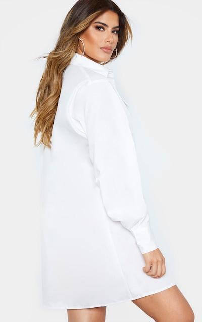 Tall White Oversized Utility Shirt Dress