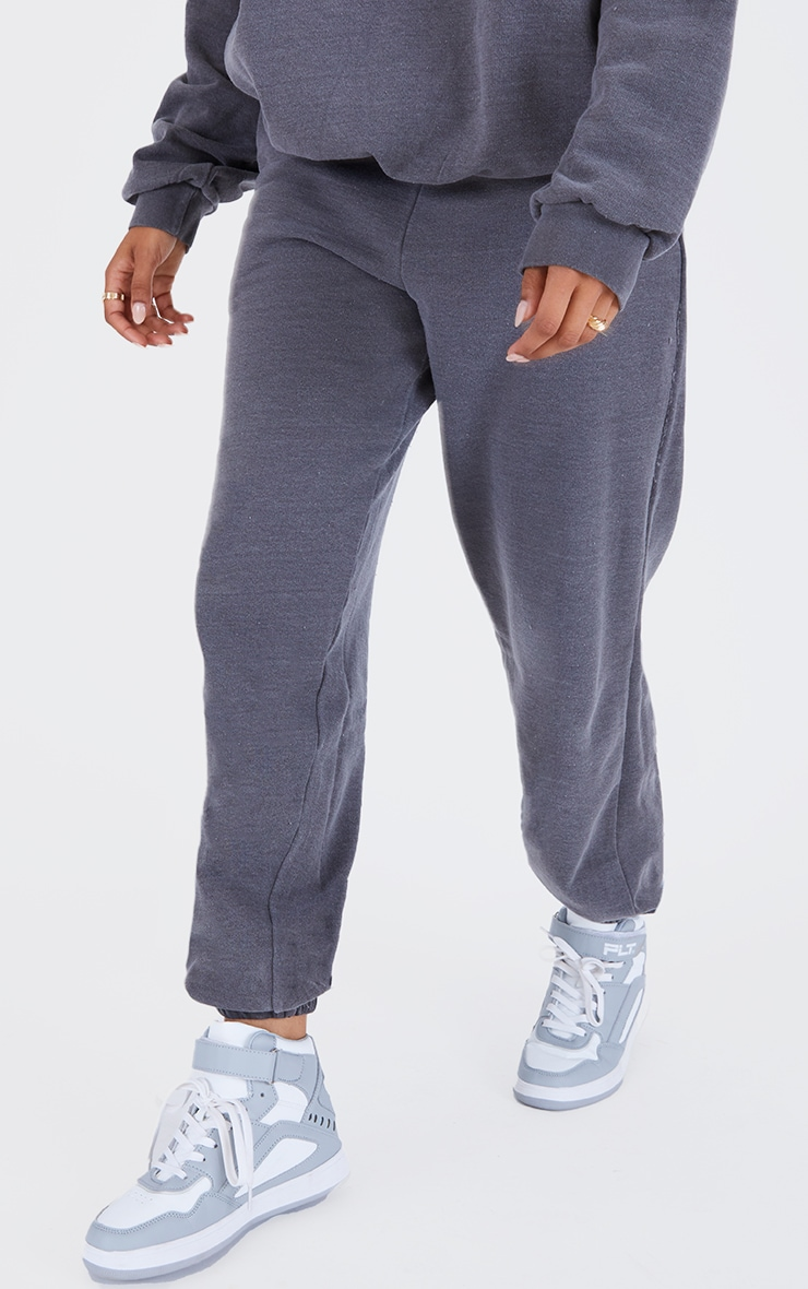 Recycled Charcoal Grey Washed Joggers 2
