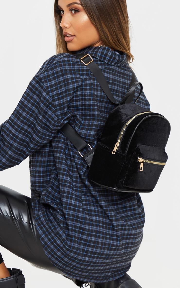 Black Velvet Mini Back Pack 1