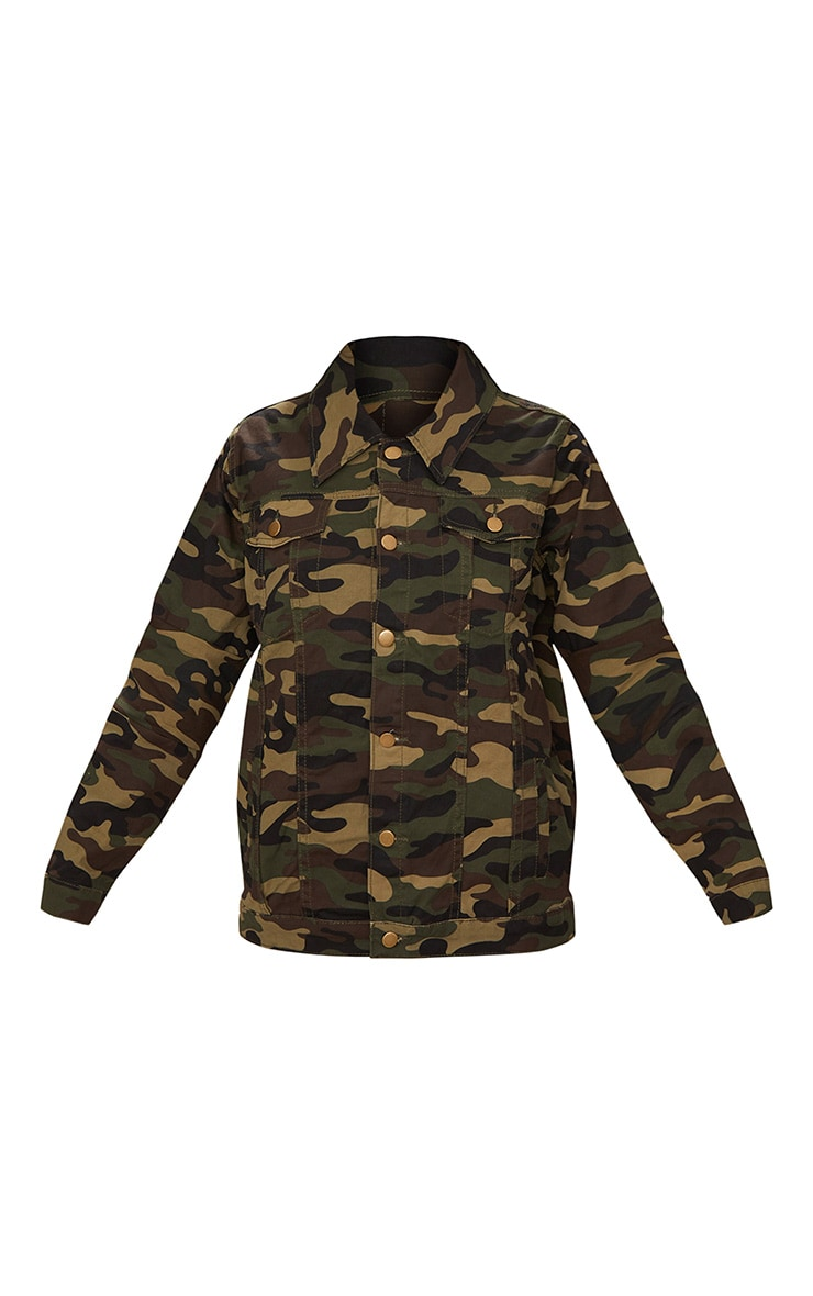 Camouflage Oversized Denim Jacket 3