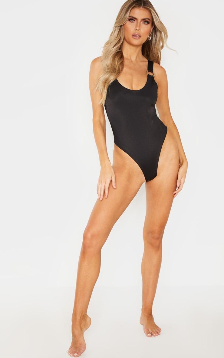 Tall Black Ring Detail Swimsuit 5