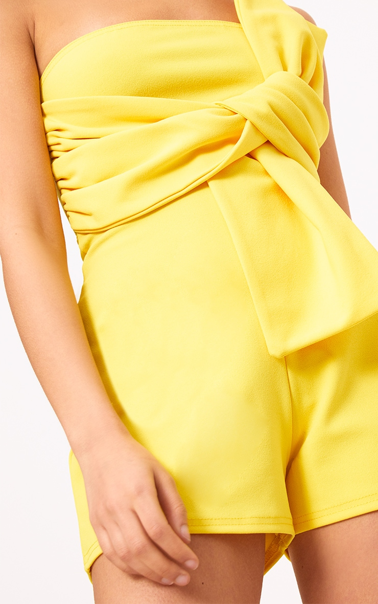 Yellow Bow Bardot Playsuit 5