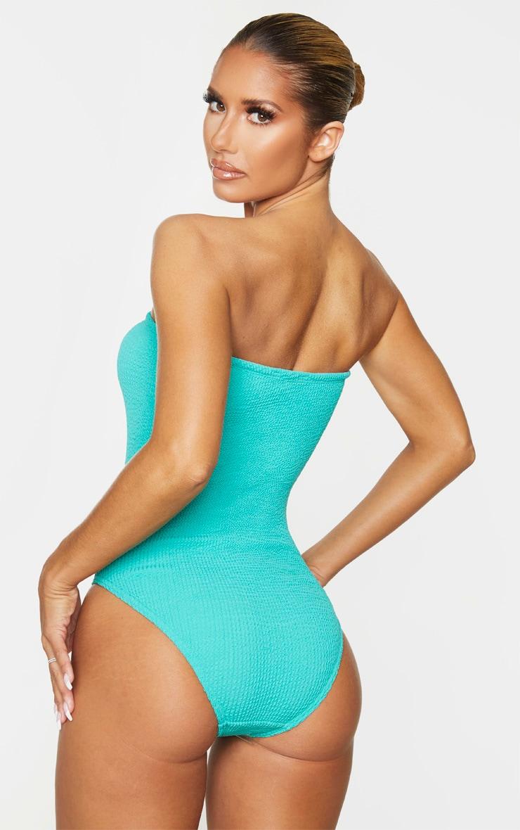 Aqua Crinkle Strapless Swimsuit 2