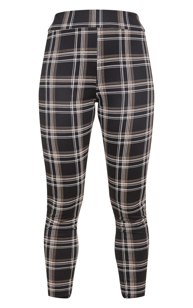 Black Checked Ponte Legging 3