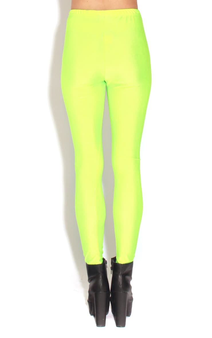 Chloe Lime High Waisted Disco Pants 2