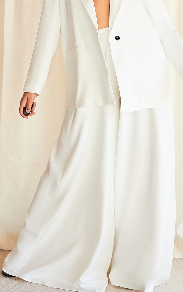 White Extreme Wide Leg Floaty Pants 2
