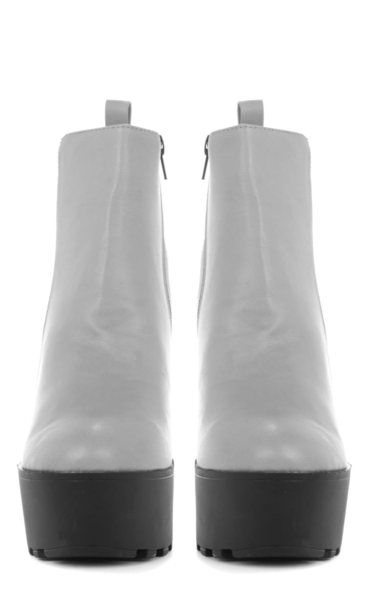 Asma Grey Elasticated Chunky Boots 4
