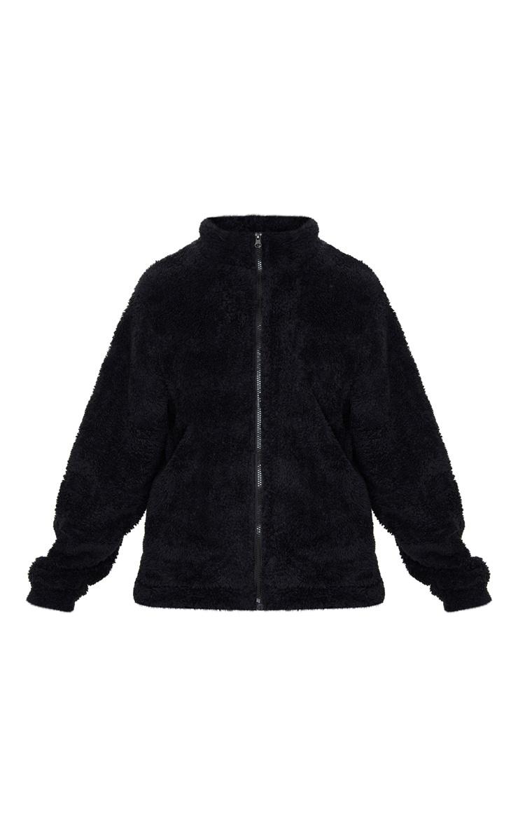Black Borg Funnel Neck Zip Front Sweater 3