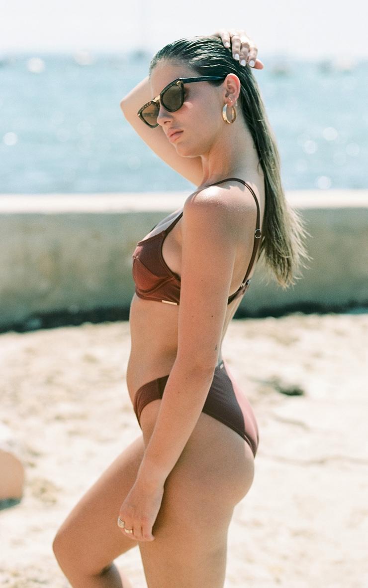 Deep Brown Mix & Match Mini Front Bikini Bottoms 3