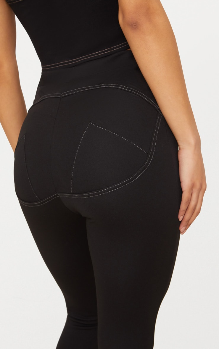 Black Contour Seam Push Up Leggings 4