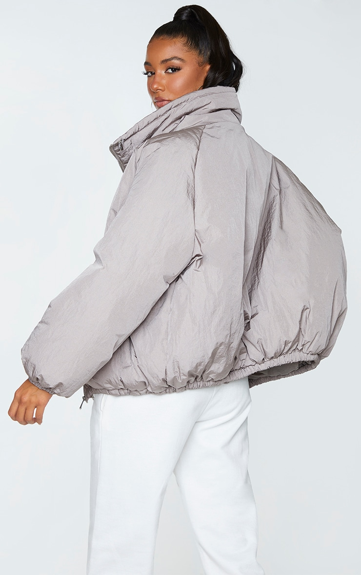 Grey Extreme Oversized Puffer Jacket 2