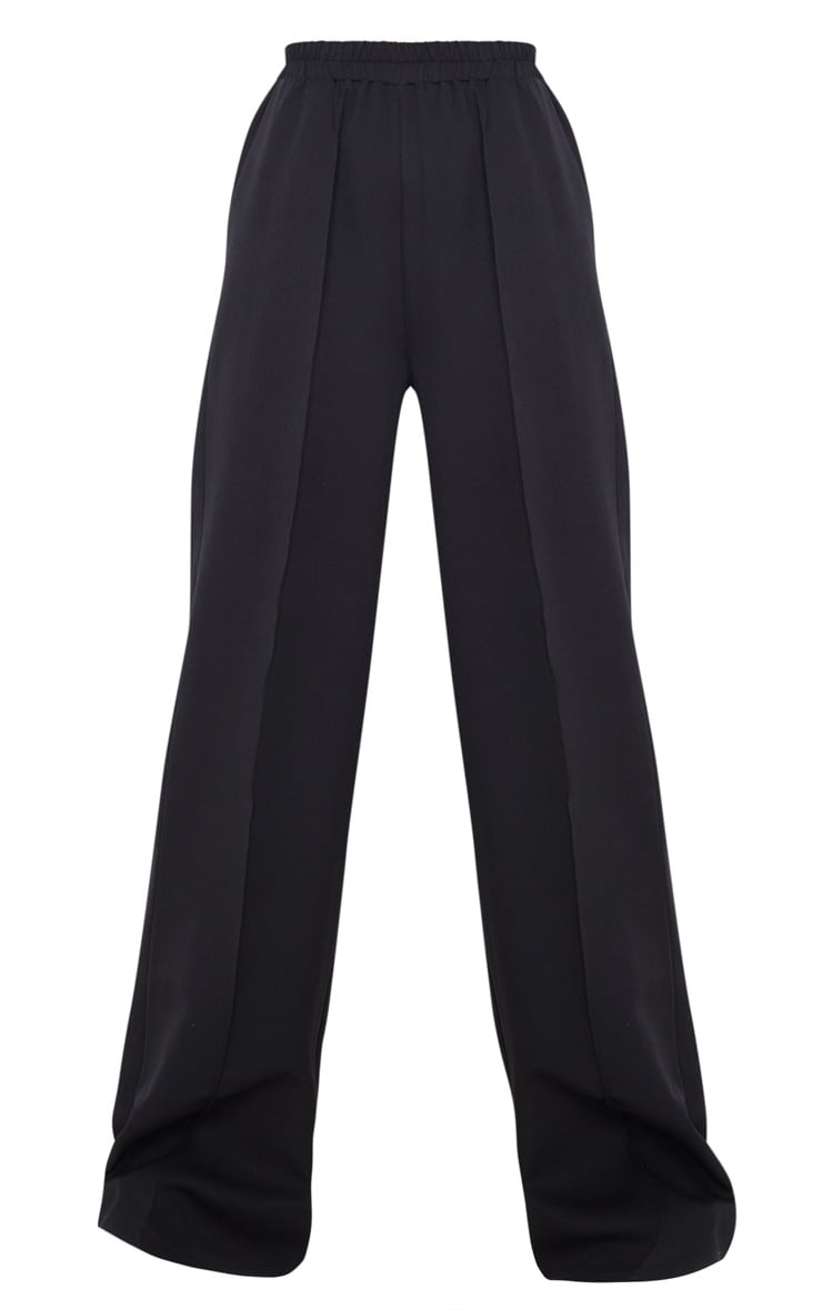 Black Waistband Straight Leg Pants 3