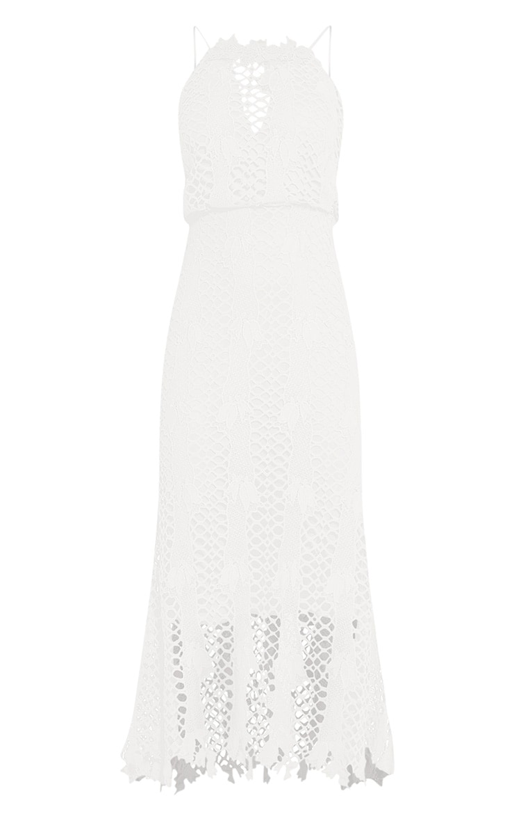 Reeya White Lace Midaxi Dress 3