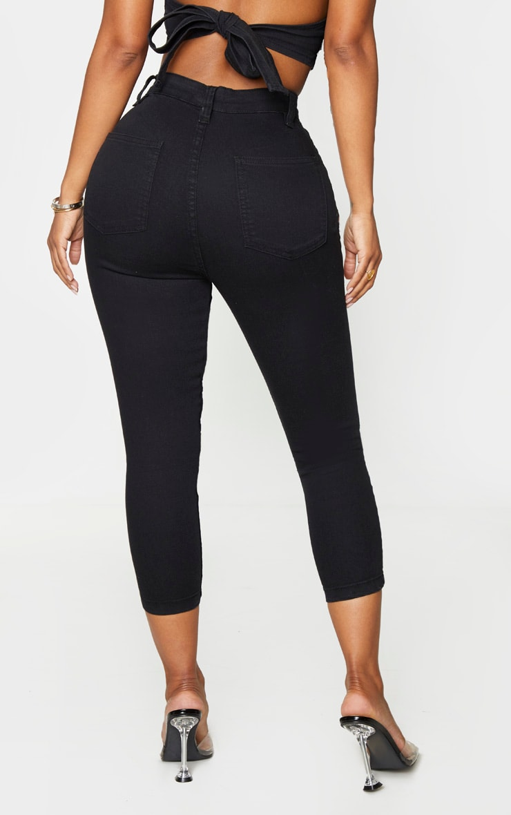 Shape Black High Waist Cropped Jeans 3