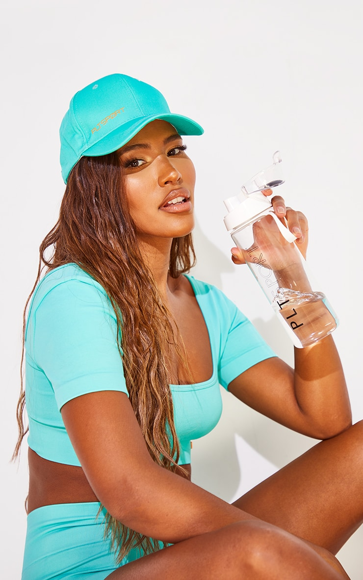 PRETTYLITTLETHING Turquoise Sports Cap 1