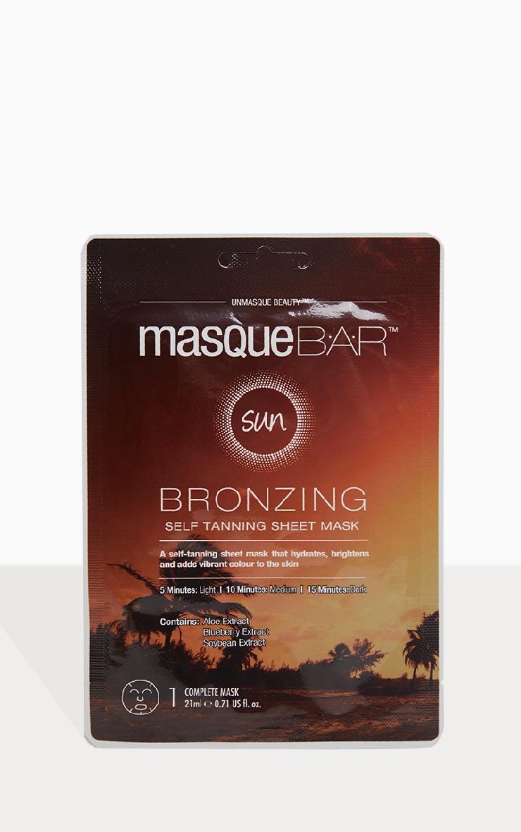 MasqueBAR Bronzing Self Tanning Sheet Mask 1