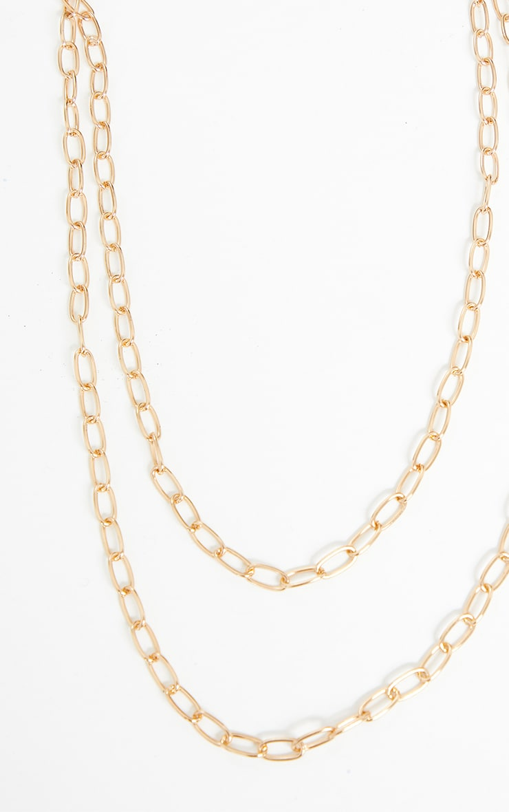 Gold Think Chain Layering Necklace 3