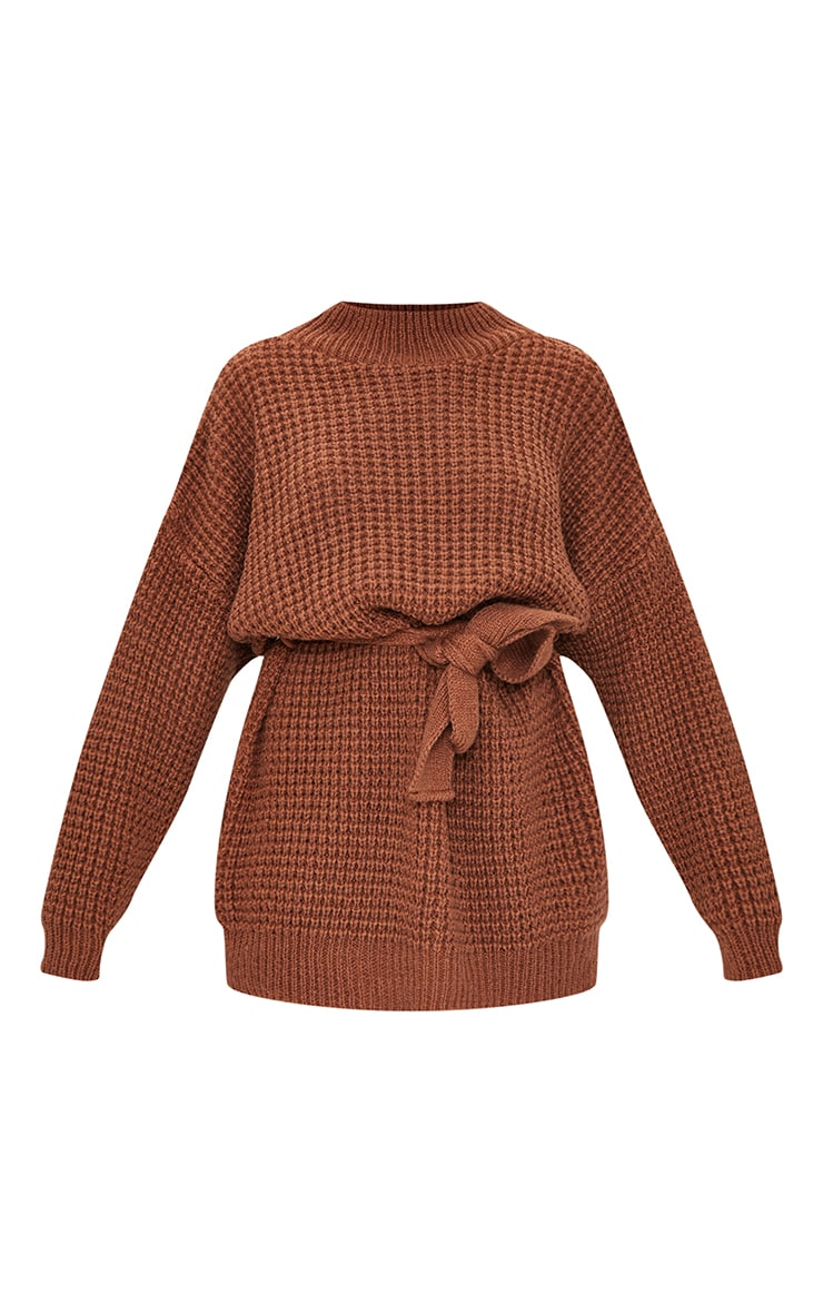 Petite Chocolate Touch Belted Knitted Jumper Dress 5