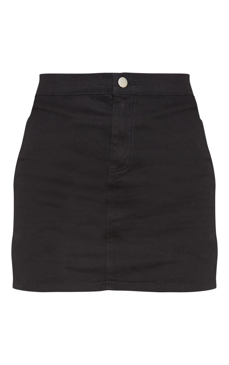 Jupe en jean noir disco 3