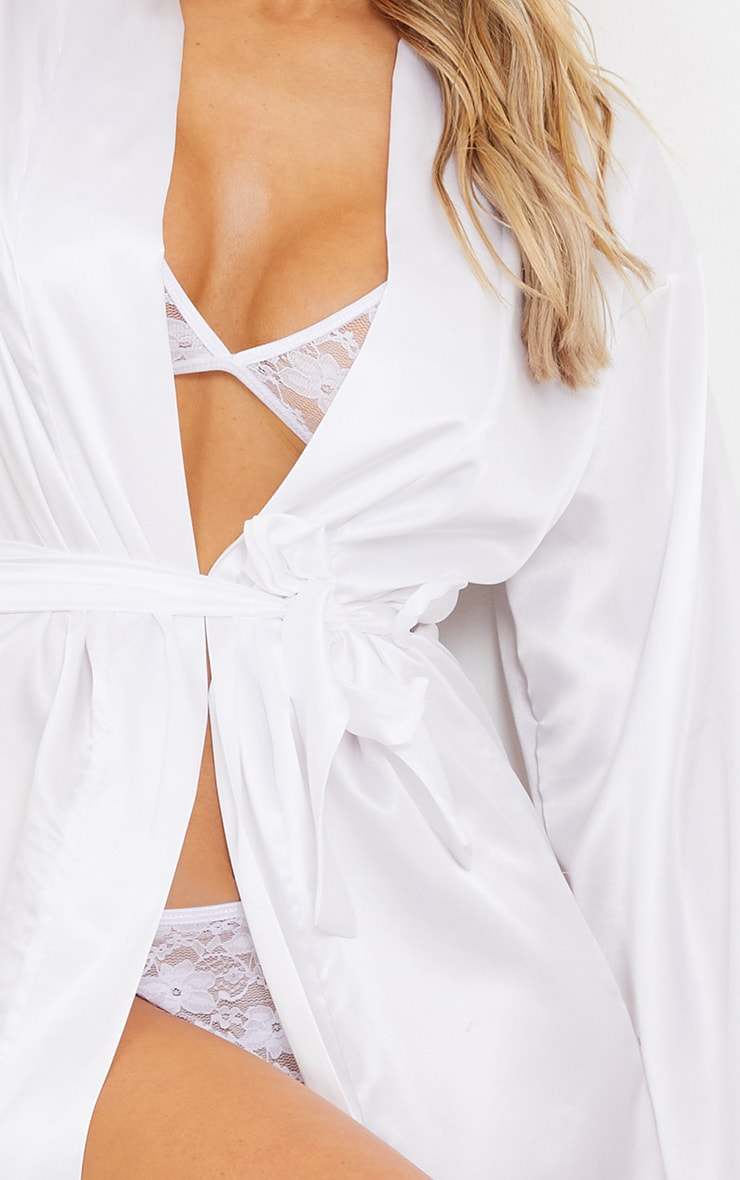 White Satin Robe 4