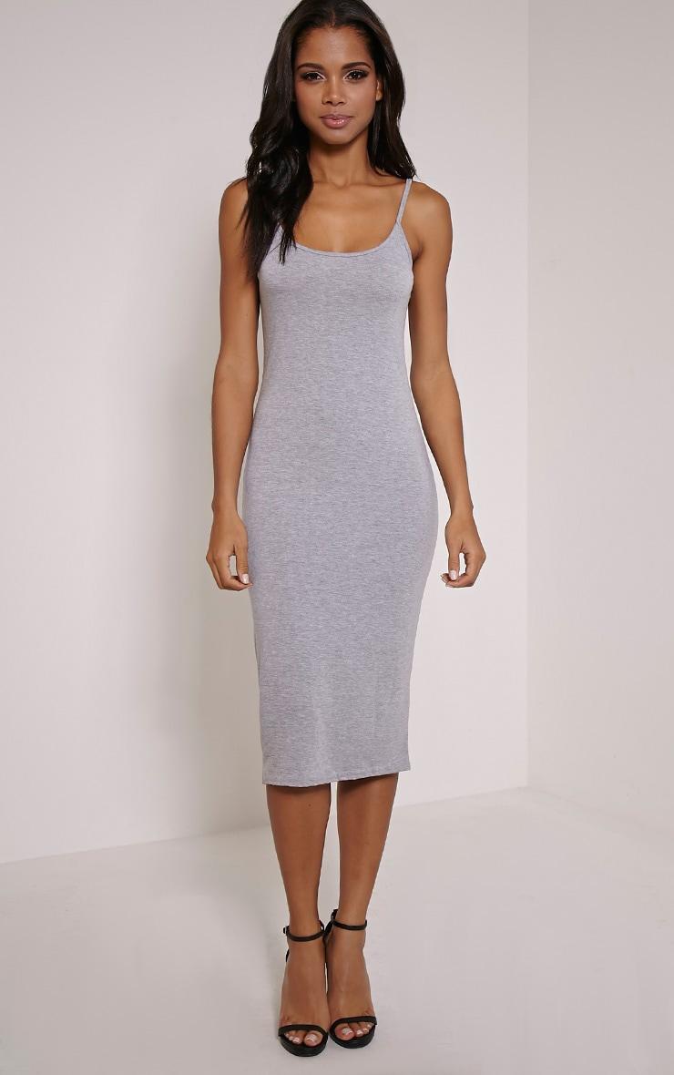 Basic robe débardeur midi grise 4