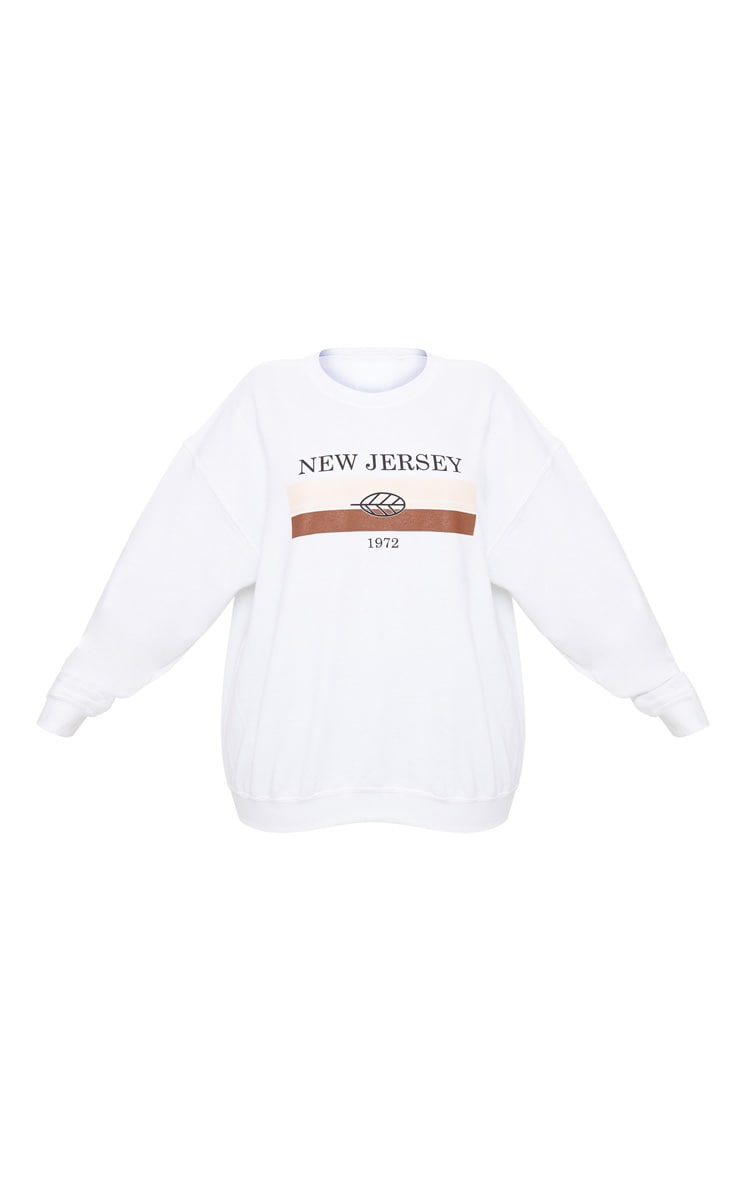 Plus White New Jersey Sweater 3