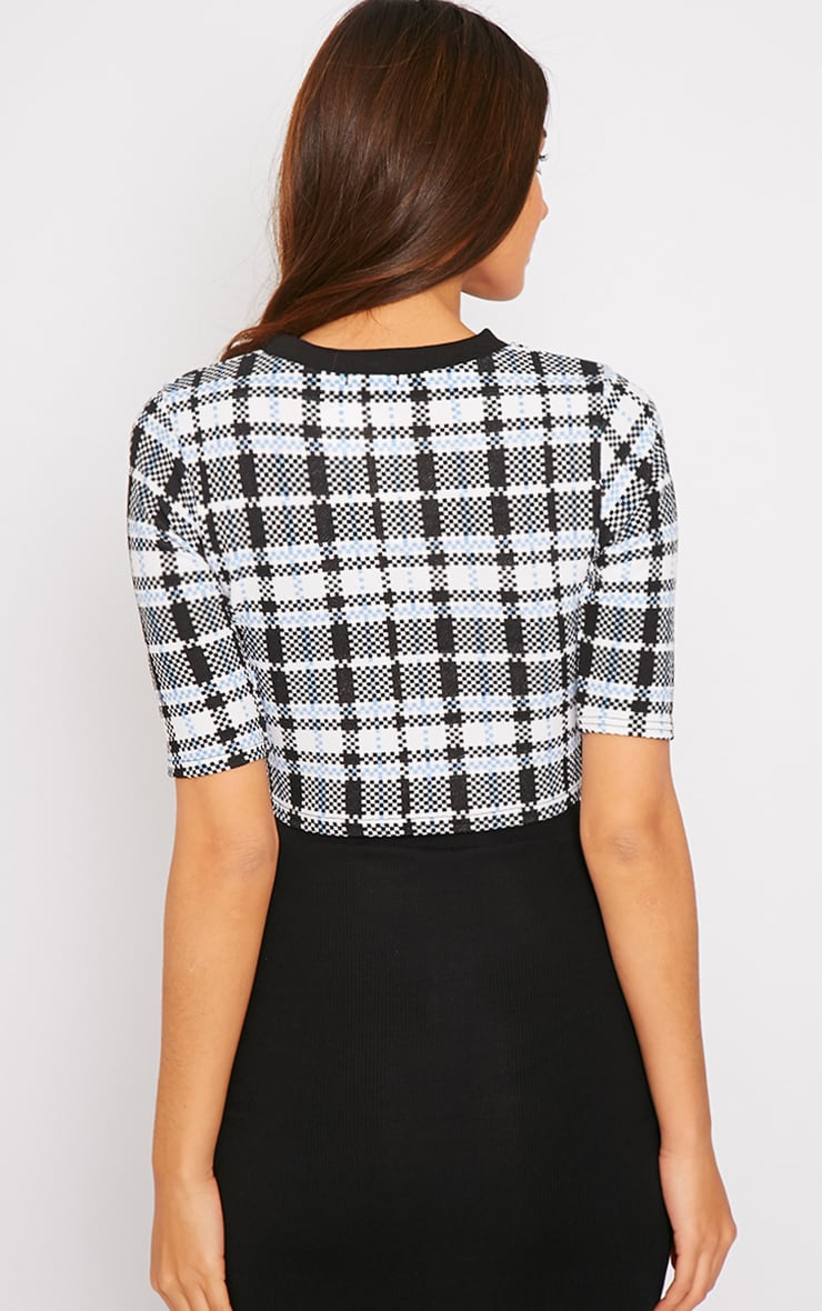 Mabel High Neck Checked Crop Top 2