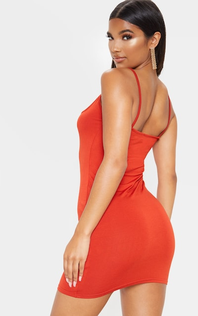 Scarlet Strappy Front Detail Bodycon Dress