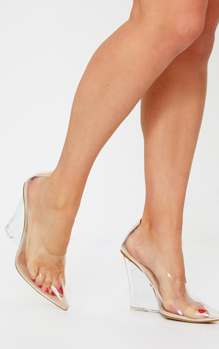 Clear Wedged Court Shoe 1