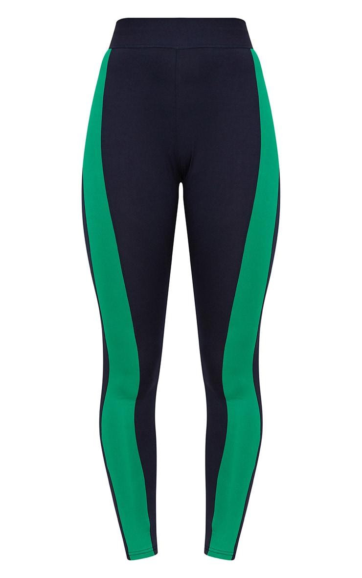 Navy Blue Contrast Gym Leggings 3