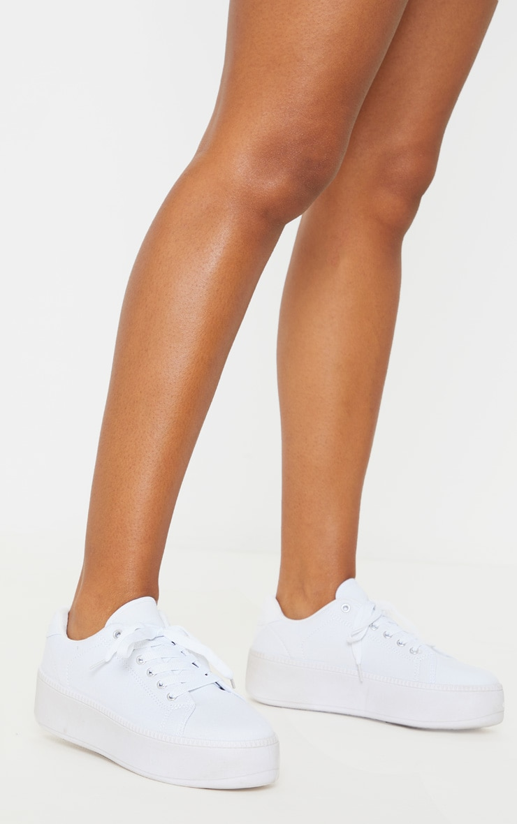 White Flatform Sneakers 1
