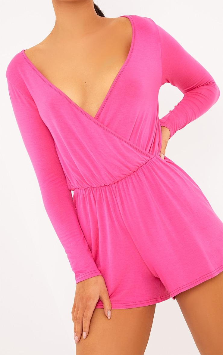 Alishah Hot Pink Basic Playsuit 5