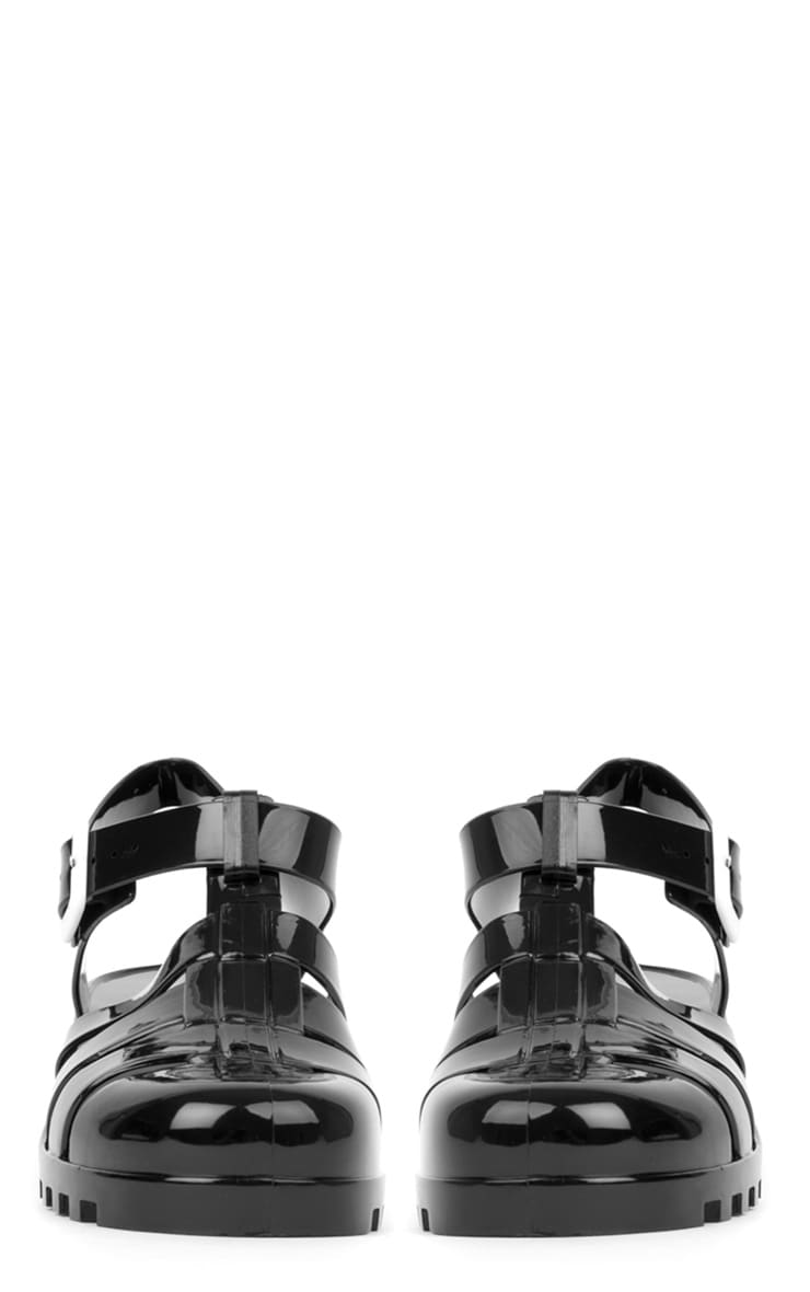 Kassidy Black Jelly Shoe With Cleated Sole 3