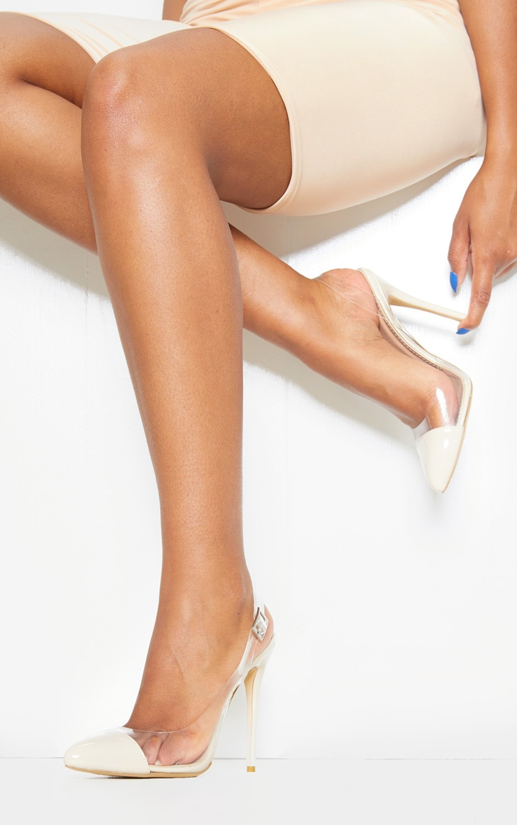 Nude Slingback Clear Court 1