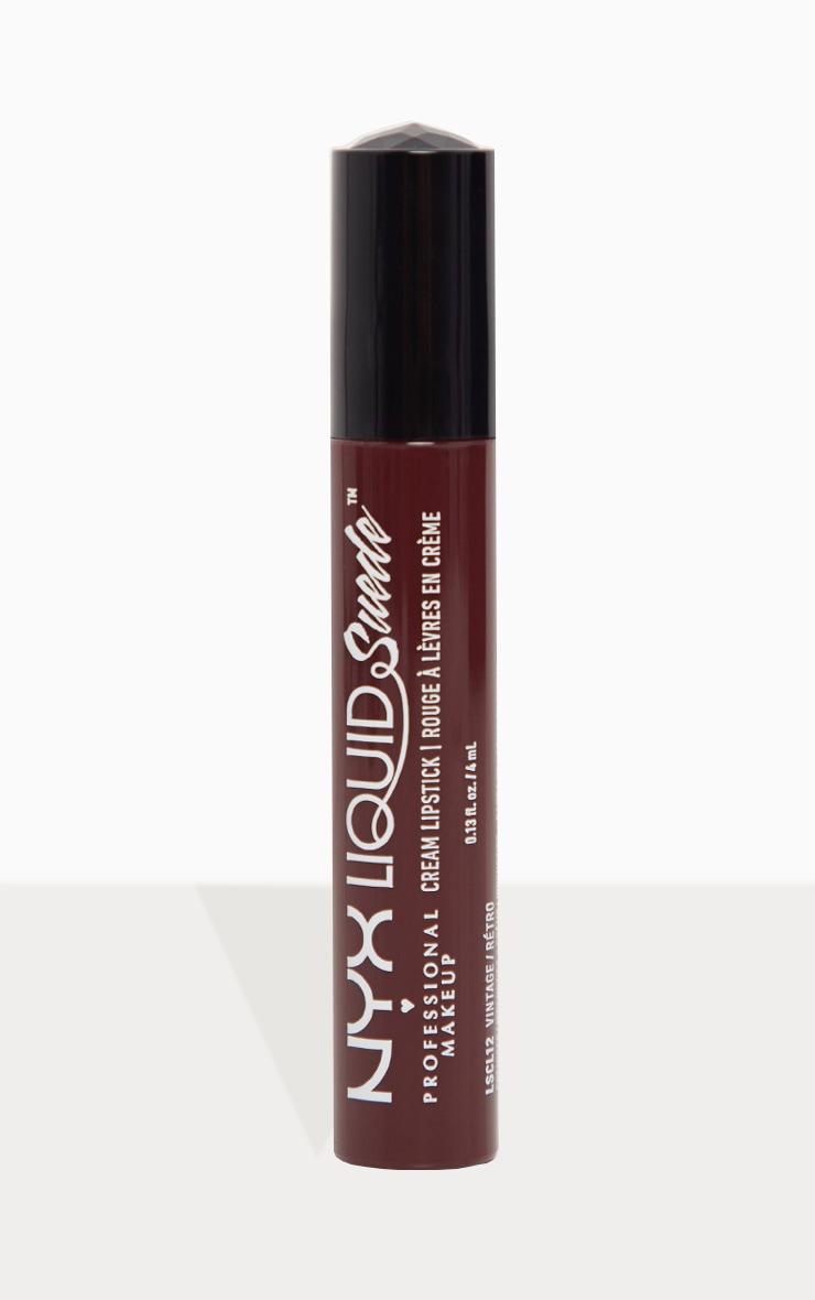 NYX Professional Makeup Liquid Suede Cream Lipstick Vintage 2
