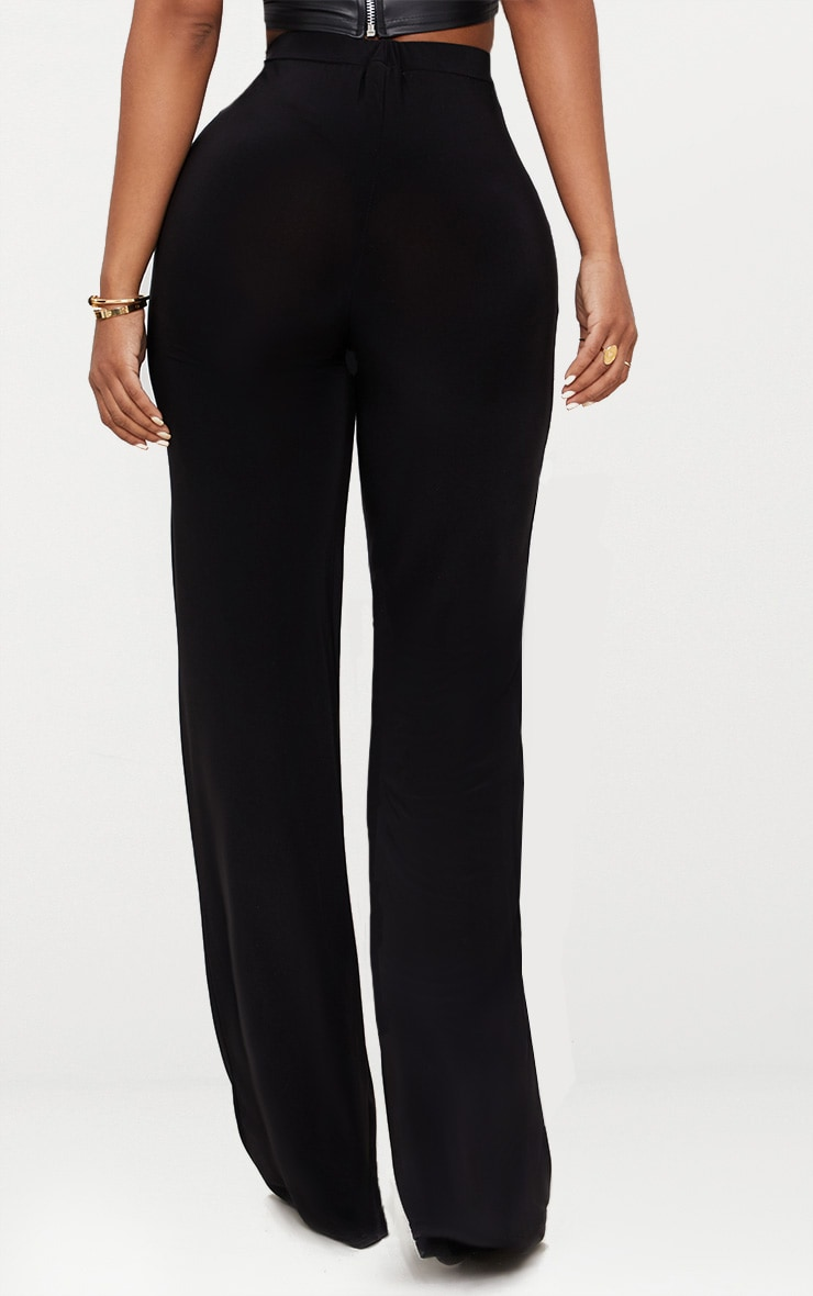 Shape Black Slinky Wide Leg Pants 4
