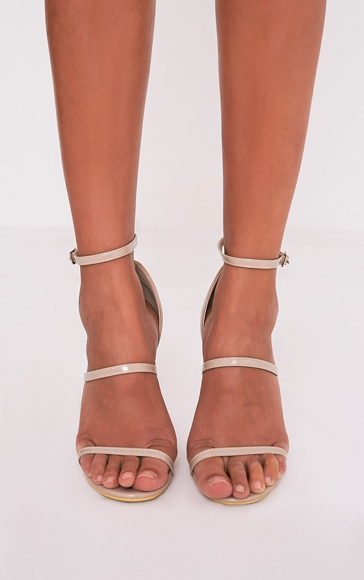 Amelia Nude Patent Strappy Heeled Sandals 3