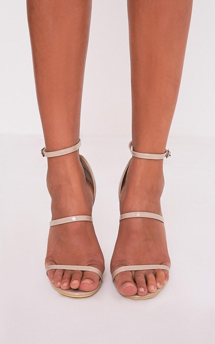 Amelia sandales vernies à talons et brides chair  3